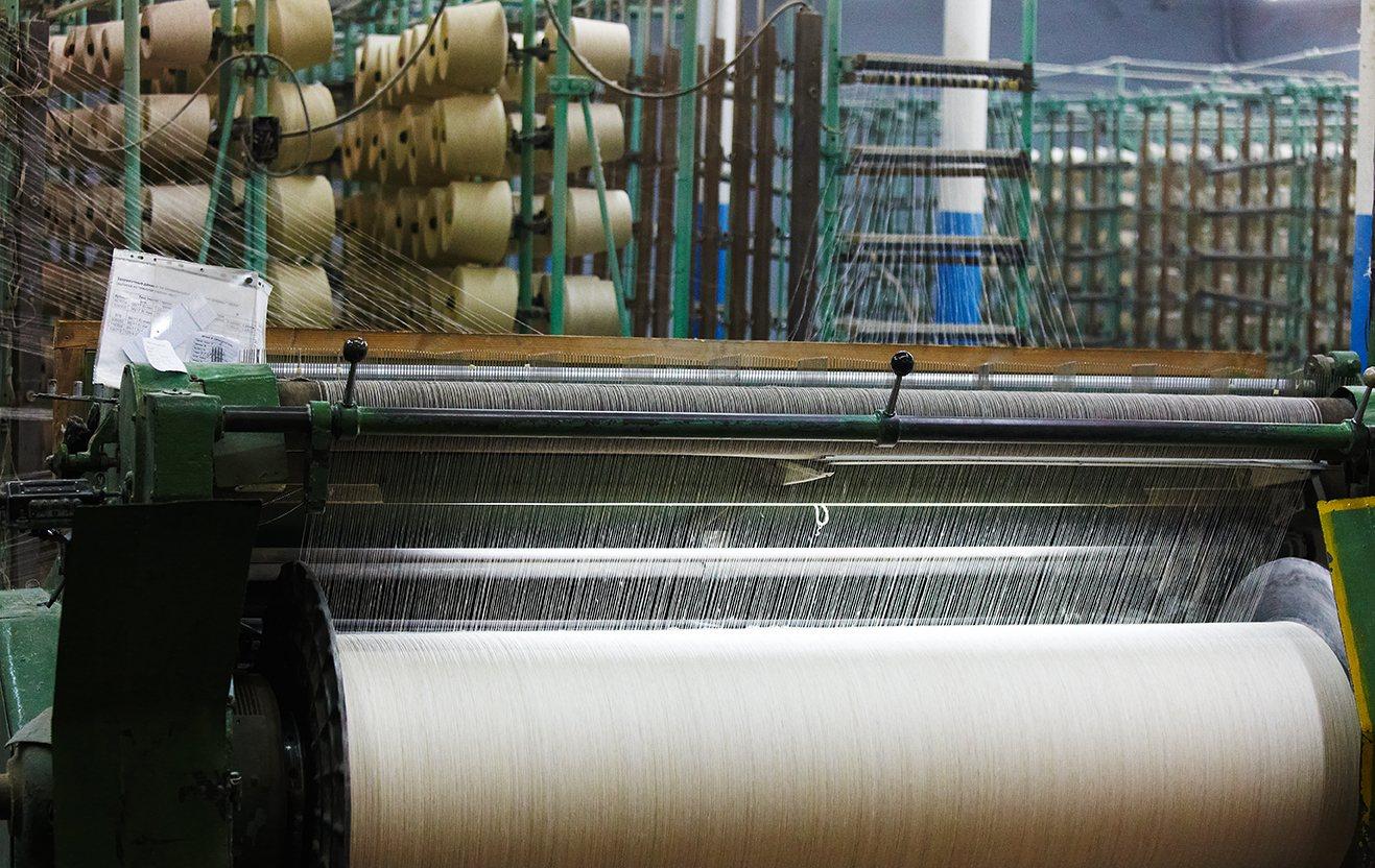 Tecelagem industrial de cânhamo